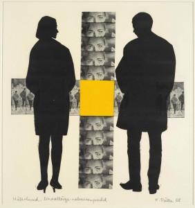 Kaljo Põllo, Memories. 1968. Lino-cut. Art Museum of Estonia.